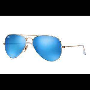 Ray-ban blue flash lens aviator sunglasses